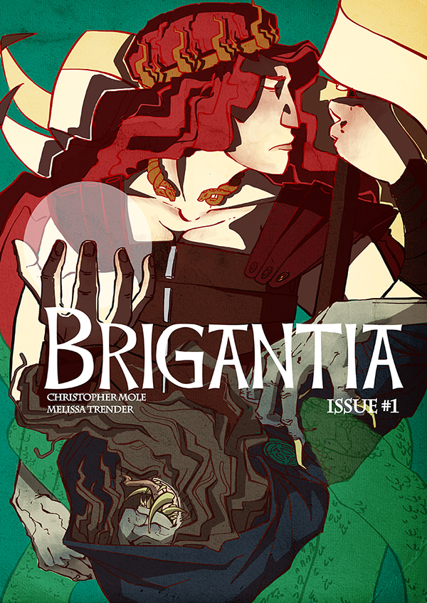 Cover concept for Brigantia Issue #1. Artwork by Melissa Trender.